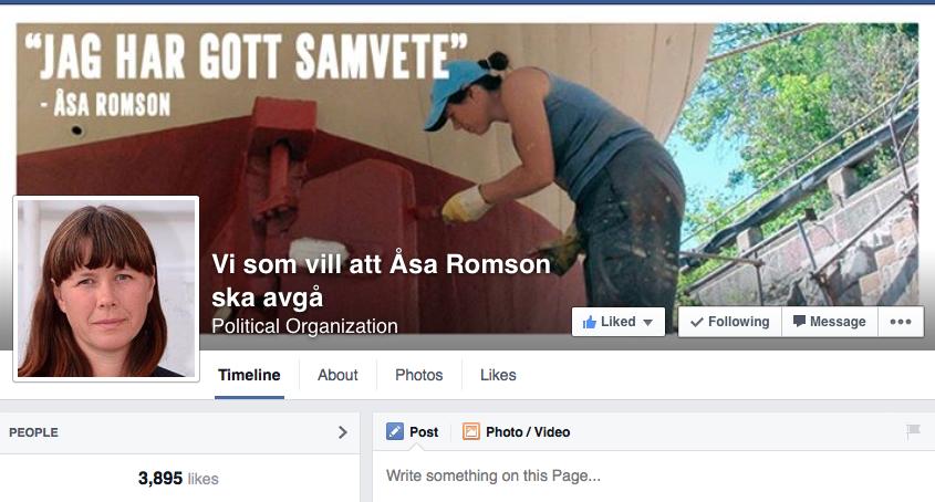 Vi som vill att Åsa Romson ska avgå